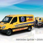 LKW Fahrschule Fahrzeug Sprinter mit Anhänger